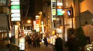 NightLife Japan (Time Lapse) Stock Footage