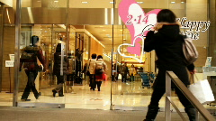 Valentine Shopping Stock Footage