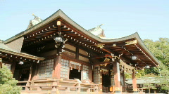 Shinto Shrine (Time Lapse) Stock Footage