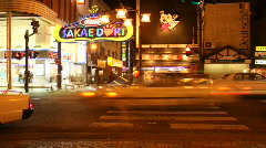 Stock Video Footage of NightLife Japan (Time Lapse)