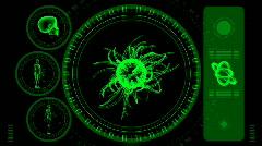 Virus Scan Screen - Hi-tech 18 (HD) Stock Footage