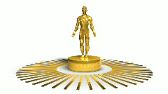 Golden Award Character - Motion Background 31 (HD) Stock Footage