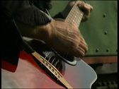 Man plays guitar Stock Footage
