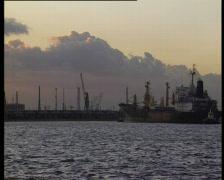 Antwerp harbour - stock footage
