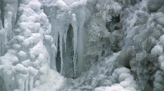 Icy waterfall Stock Footage