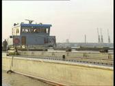 Ship boarding in Port of Antwerp Stock Footage