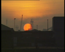 Sunset Port of Antwerp Stock Footage