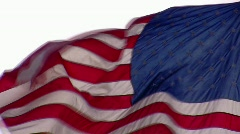 The American flag waving in the wind Stock Footage