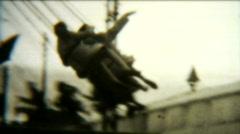 1940s Amusement Park Carousel ride - Vintage 8mm film footage - stock footage