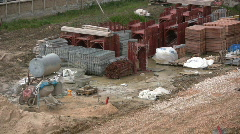 Construction site in Italy Stock Footage