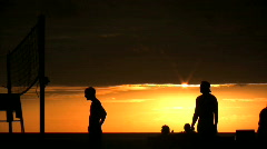 VolleyBall at Sunset - stock footage