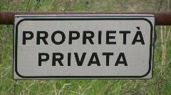 Private property - Proprieta Privata (Italy) Stock Footage