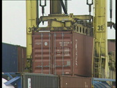 Stock Video Footage of Straddlers in Antwerp harbour