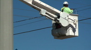 Electrical High Wire Technician Stock Footage