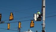 Traffic Light Signal Repair Stock Footage