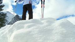 Winter Skiing Freedom Stock Footage