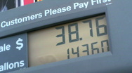 Gas Prices Rising Stock Footage