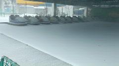 Winter Bumper Cars Stock Footage