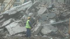 Demolition Watering Stock Footage