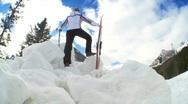 Female Ski Achievement Stock Footage