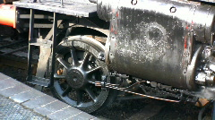 Steam Train Wheels and Smoke - stock footage