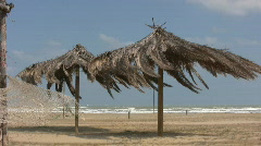Off-season on an italian beach Stock Footage