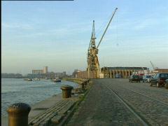 Antwerp, kaaien noord - stock footage