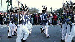 Soldiers Performing in Endymion parade Stock Footage