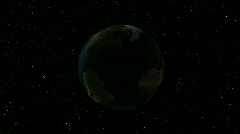 Earth and sun - stock footage