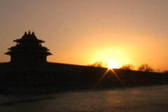 Forbidden City- Silhouette - stock footage