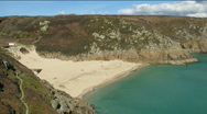 Above Porthcurno timelapse. Stock Footage
