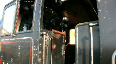 Steam train at the station Stock Footage