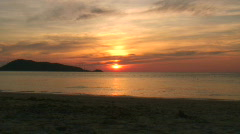 Phuket sunset - stock footage