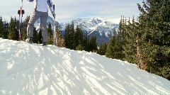 Winter Skiing Success Stock Footage