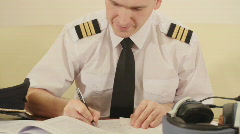 Airline pilot - stock footage