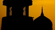 Mosque silhouette Stock Footage