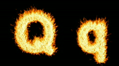 Loopable burning Q character Stock Footage