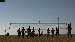 Volleyball on the beach Stock Footage