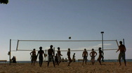 Stock Video Footage of Volleyball on the beach