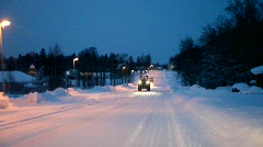 Road on  a winter evening Stock Footage