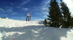 Winter Skiing Success Stock Footage