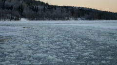 Traveling on an ice-breaking ferry Stock Footage