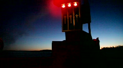 Stop-sign onboard an ice-breaking ferry. Stock Footage