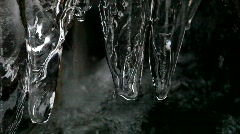 Ice in a waterfall Stock Footage
