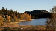 Swedish lake on an autumn afternoon. Stock Footage