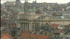 Antwerp skyline - stock footage