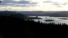 View from mountain Ringkallen Stock Footage