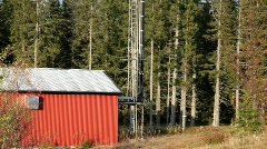Cell phone tower in a forest. Stock Footage