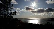 View over the coast of the Baltic Sea Stock Footage