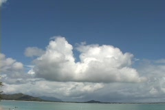 Clouds in Kailua Town Stock Footage
